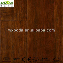 Caramel Hand Scraped Solid Strand Woven Bamboo Lumber Flooring