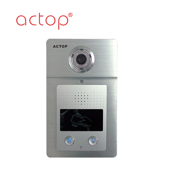 Shenzhen manufacture ACTOP New design TCP/IP video door phone for unit villa of multiple building intercom system