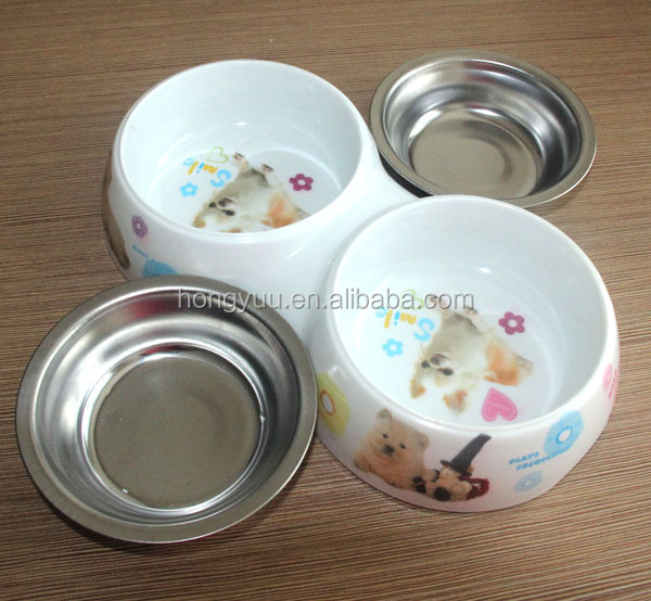 New Fashionable Stainless Steel Dog Bowl Cat water Bowl Colourful Healthy Pet Bowl