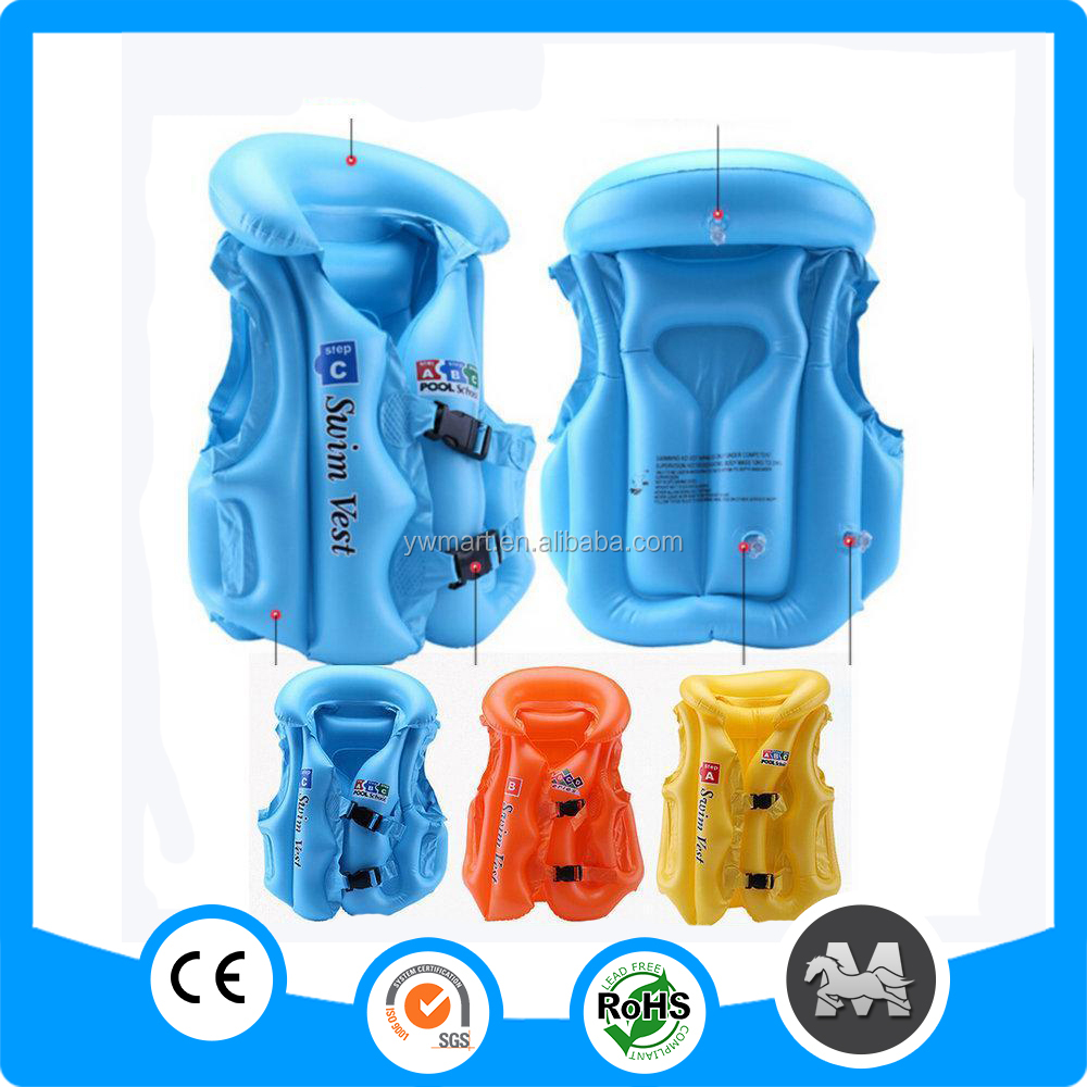 Factory sale custom made inflatable pvc personalized life jacket