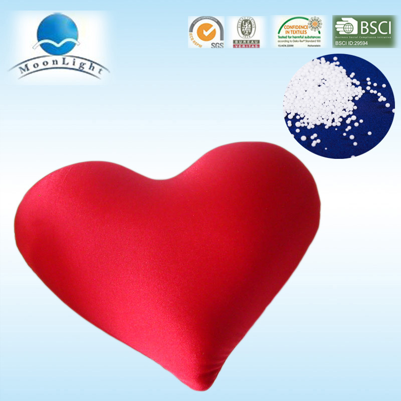 heart cushion with microbeads filling sofa pillow