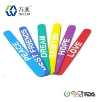 Hot Silicone Slap Snap on Rubber Band Bracelets Wristband Hand Band