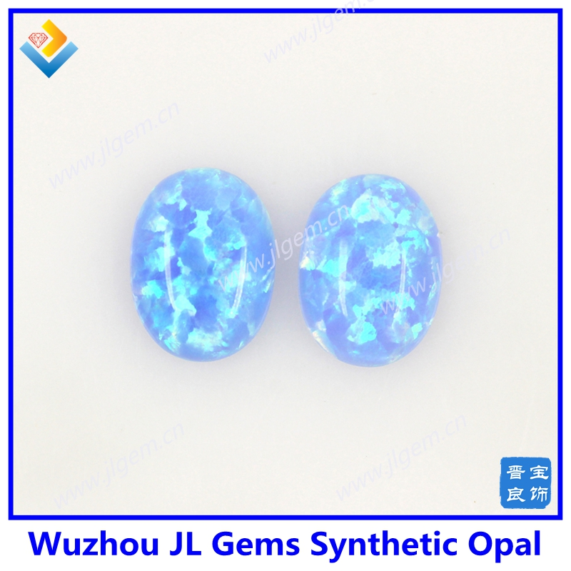 Synthetic Opal 06 Azure Opal Oval Cabochon Gemstone Jewelry