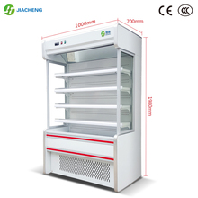 Jiacheng supermarket air curtain cabinet refrigerated fresh cabinet fruit and vegetable drinks display cooler