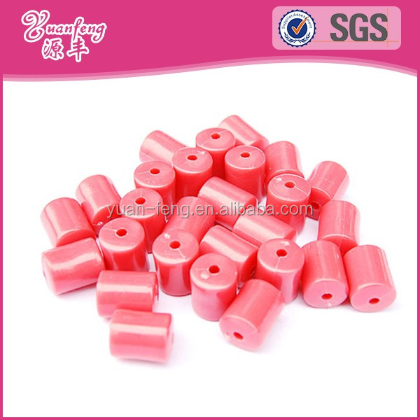 Fancy Colored Hole Tube Hama Plastic Beads