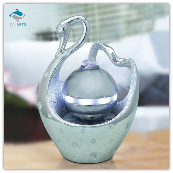 indoor swan shape wedding decoration water fountain new gadgets 2014