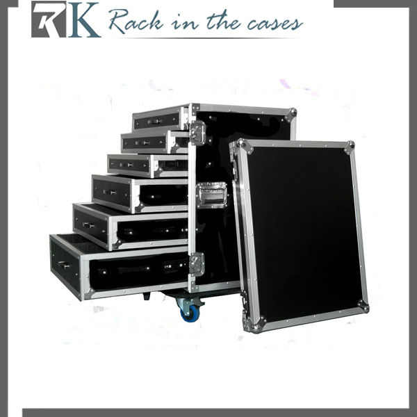 Professional Makeup Artist Train Cosmetic Rolling Case with Drawers