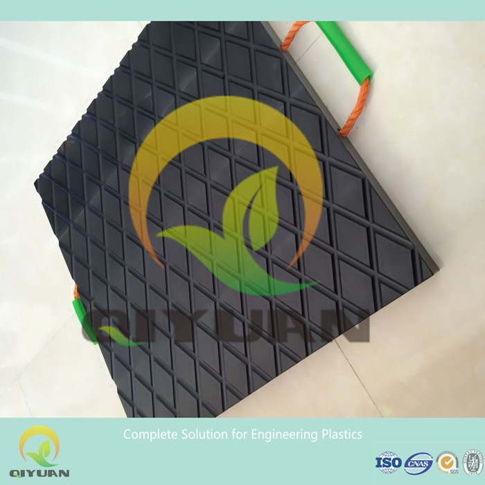 Outrigger pads/ uhmwpe plastic cube crane foot pad
