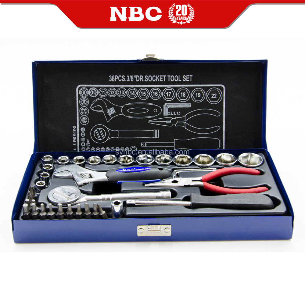 Hand Tools Box Spanner Socket Set for Auto Repair Hardware Hand Tool Set
