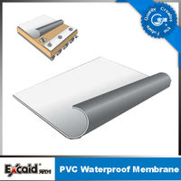 Grey / White PVC waterproofing roll roofing