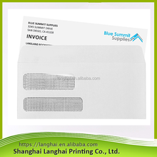 2017 New Arrival Paper Envelope with Two Clear PVC Window/Business Confidential Letter New Products China Suppliers Envelope