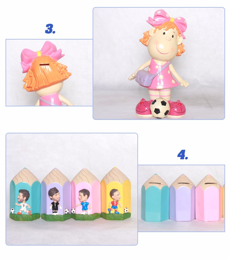 Chinese Supplier Cartoon Resin Fist Shape Coin Bank