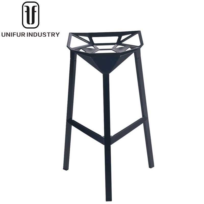 Outdoor Aluminium bar stools, Replica Magis style Konstantin Grcic Stool One for hotel and cafe bar stool