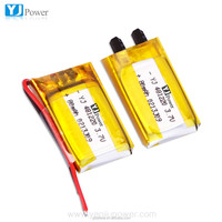 small rechargeable battery 481220 80mAh 3.7v 80mah lithium polymer battery