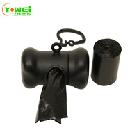 Easy Open Strong Black color Leak-Proof Poop Bags Dog Waste Bags with Dispenser
