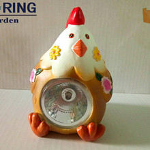 Chinese lantern resin chick solar garden light poult LED lamp indoor outdoor baby light