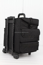 Hot sell professiona makeup trolley bag case with pp drawers