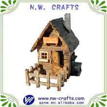 Outdoor garden miniature fairy shed with fence for home decor supplies
