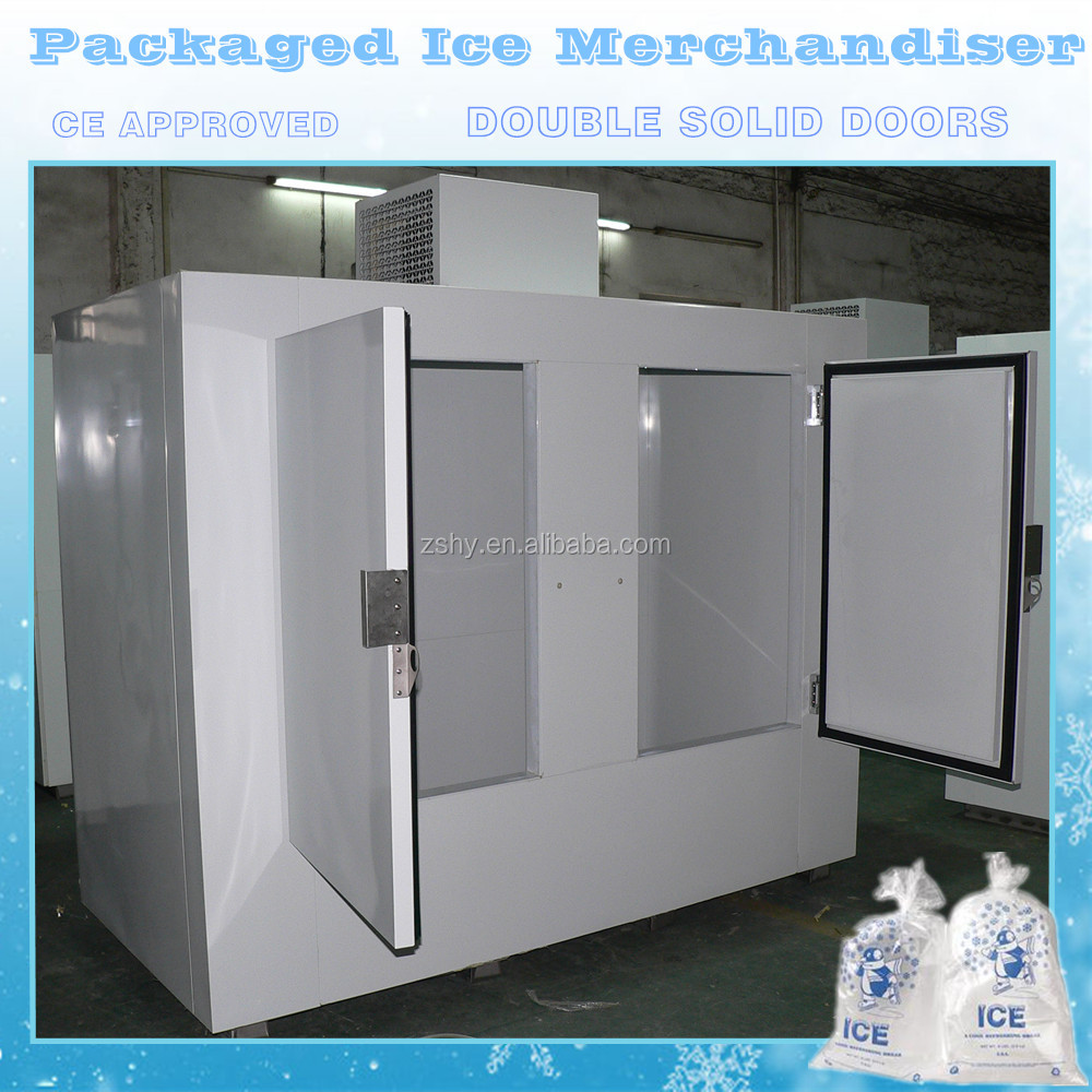 Packaged ice merchandiser CE approved with compressor on top