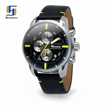 China Suppliers Quartz Movement Small Dial Second Hand 100% Genuine Leather Stainless Steel Analog Men Watch