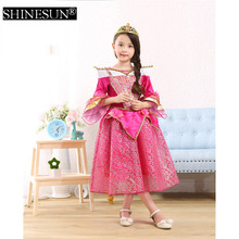 2016 Princess Costume for Girls Dress Up Chirstmas gift Costumes Fashion Princess Party Dresses Girl Clothing