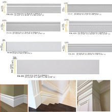 Polyurethane Ornaments High Density Beautiful PU Decorative stainless steel skirting board