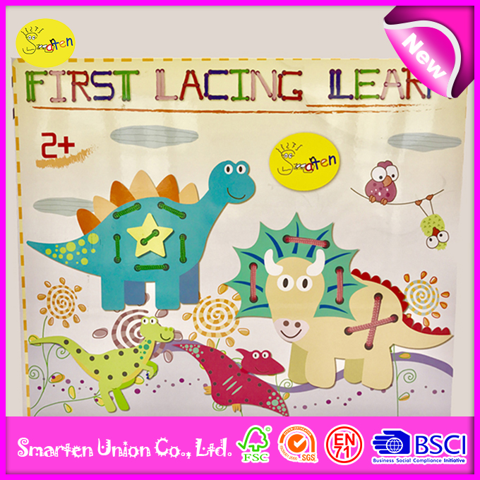 educational toy baby early learning lacing, custom mini diy toy