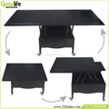 Multi-functional wooden dining table,black
