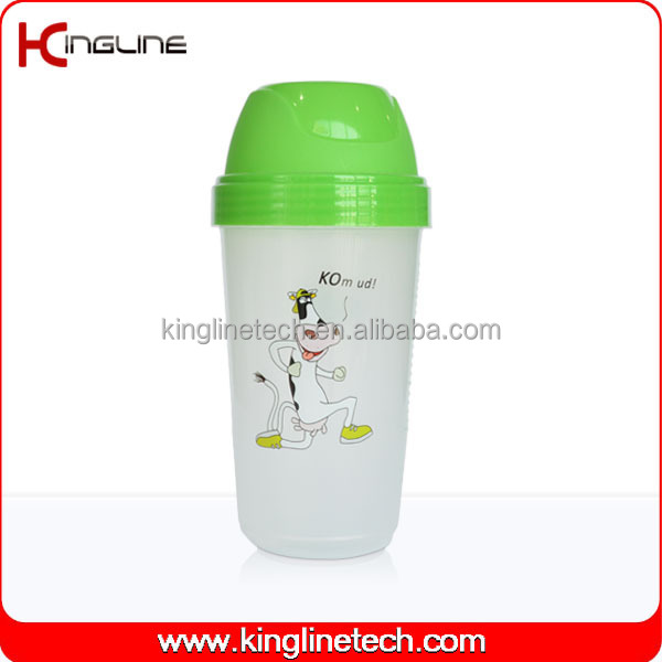 250ml plastic custom protein shaker bottle (KL-7065)