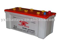 12V150AH Dry Charged Auto Lead-acid Car Battery