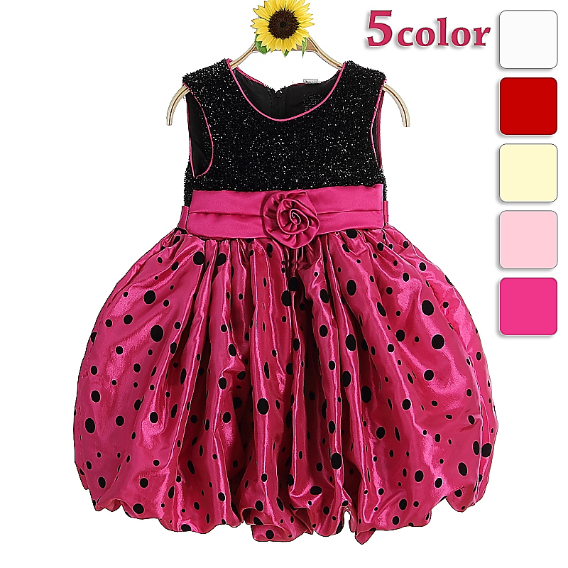 Birthday tutu dress for kids party costume rose pink kids fancy dress photos with polka dot