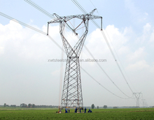 Hot deep galvanized Electric power 220kv transmission line Angle Tower