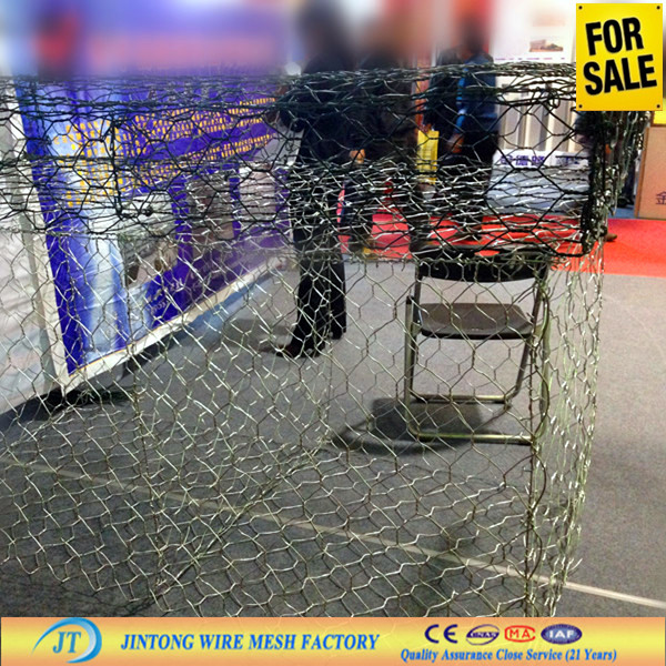 hexagonal mesh fabric/ PVC coated chicken wire mesh (ISO9001 Manufacturer )