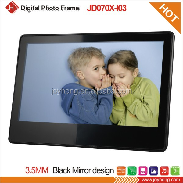 7 inch Black Mirror Full Function Digital Photo Frame