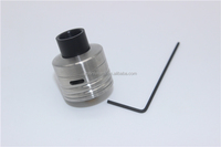 Shooting Vape Hobo V3.1 RDA hobo 3.1 Exclusive Project Sub-Ohm Edition 12mm Adjustable Widebore Black Delrin Competition Top Cap