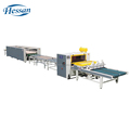 New technology single side PUR hot melt honey comb plate wood lamination production line