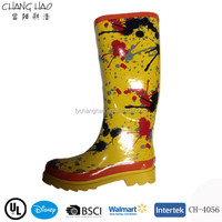 2015 NEW FASHION SHINING LADY RUBBER RAIN BOOTS