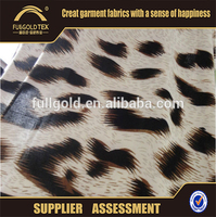 Polyester leopard print FDY chiffon fabric