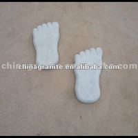 feet shape granite stepping stone
