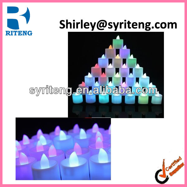 Mini LED Flashing Candle Colorful Decoration LED Candle
