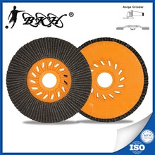 "4.5"" 115x22mm flap grinding disc for Glass grit 80"