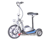 Self balancing electric unicycle chariot scooter with three wheels