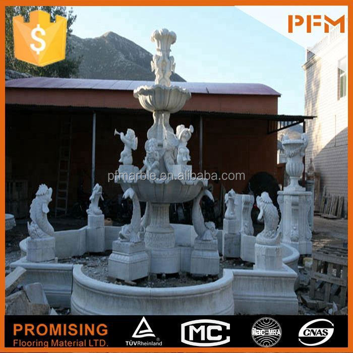 latest hot sale cheap well polished beautiful hand carved tile wall fountain