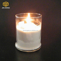 China Supplier Different Size Round Shaped Glass Candle Holder With Lid