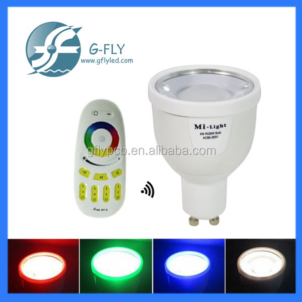 Smart Light 4W Spotlight GU10 RGBW RGBWW led bulb spotlight