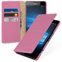 TETDED Premium Leather Case for Mircosoft Lumia 950 XL / 950 XL Dual SIM -- Mellac II (LC: Pink)