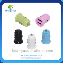 custom usb car charger 5V 2A colorful universal portable dual port micro USB mobile charger for OEM factory wholesale