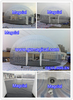 portable air tight inflatable Visual transparent tent for different commercial event
