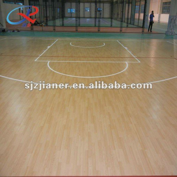 PVC Badminton/basketable Court Indoor Vinyl Floor
