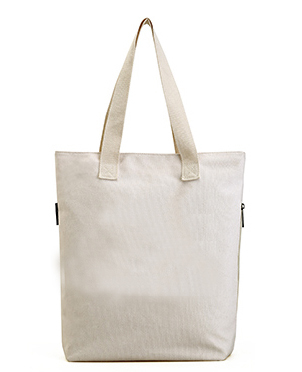 Reusable Grocery Canvas Bag Durable with double stitch and two sturdy shoulder straps to handle heavy groceries.
